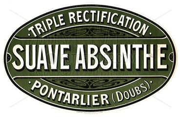 Sauve Absinthe label  c 1900.