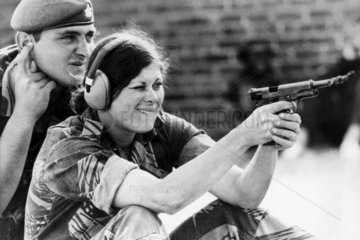 Woman in the Rhodesian Army  15 October 1978.