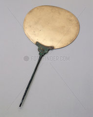 Bronze toiletry mirror  Egyptian  800 BC-100 BC.