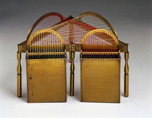 Model of a groin  string surface model  1872.