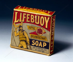 Packet of 'Lifebuoy' soap  1930s.