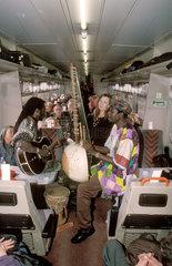 Reggae band on a train  2000.