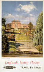 'England's Stately Homes - Newby Hall  Yorkshire  BR poster  1956.