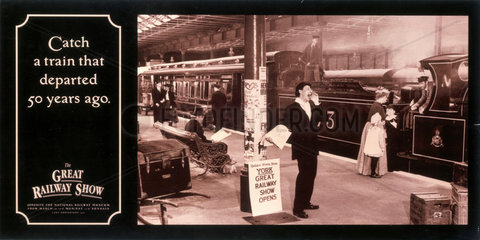 'Catch a train that departed 50 years ago'  NRM poster  1990.