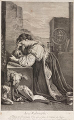 'Melancholy'  a lamenting woman  late 16th or early 17th century.