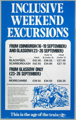 'Inclusive Weekend Excursions'  1983.
