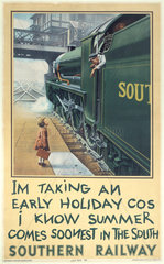 'I'm Taking an Early Holiday'  SR poster  1936.