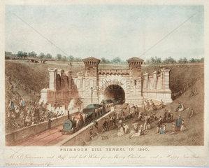 Primrose Hill Tunnel  London  1840.