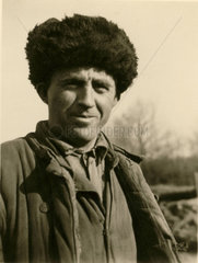 Man in a fur hat  Balkans  Second World War  1940s.