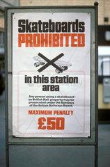 'Skateboards Prohibited' sign  1978.