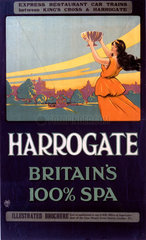 'Harrogate - Britain's 100% Spa'  GNR poster  1900-1922.