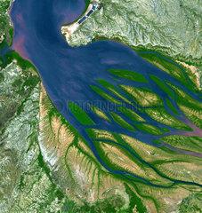 Bombetoka Bay  Madagascar  from space  c 2005.