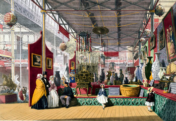 Chinese stand at the Great Exhibition  Crystal Palace  London  1851.