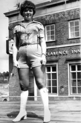 Barmaid in hot pants  1971.