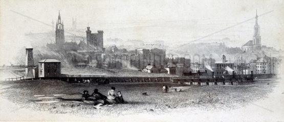 The Brandling Junction Railway  Newcastle-Upon-Tyne  c 1840.
