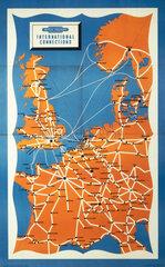 'International Connections'  BR(SR) poster  1960.