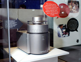 Light Cycler PCR machine on display at The Science Museum  London  2003.