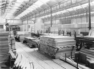 Wood at Newton Heath Carriage works  Greater Manchester  c 1926.