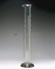 Glass measuring cylinder  19th century.