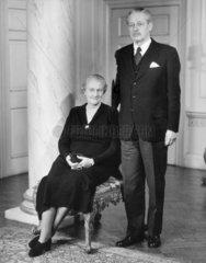 Harold Macmillan and Lady Dorothy Macmillan  March 1957.