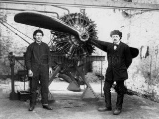 Salmson aero engine  c 1910s.