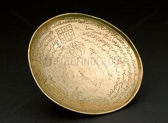 Brass divination bowl  Middle East  1851-1920.
