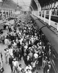 West Indians arriving at Plymouth Station  21 June 1959.