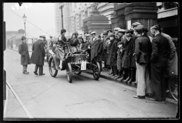 Vintage car in the London to Brighton race  1932.