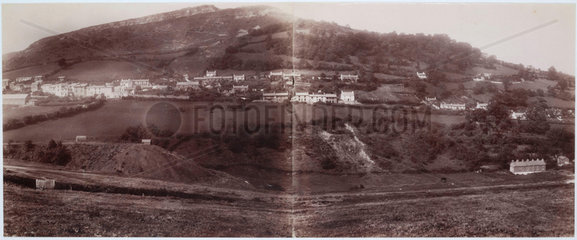 Panoramic view of a Welsh valley  1893-1895.