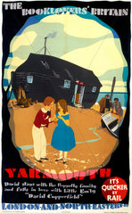 'The Booklovers' Britain: Yarmouth'  LNER poster  1933.