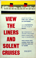 'View the Liners and Solent Cruises'  1976.