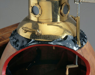 Detail of model of submersible 'Turtle'  1776.