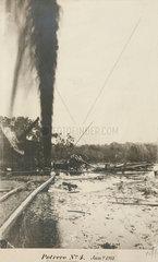 Oil gusher at Potrero  Mexico  15 March 1911.