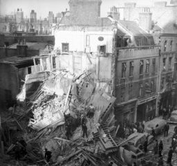 Bomb damage in Central London  Second World War  1940.