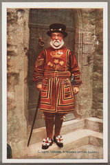 'London: A Yeoman Of The Guard'  c 1914.