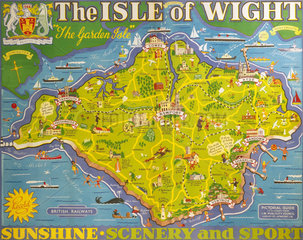 'The Isle of Wight'  BR poster  1949.