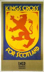 'King's Cross for Scotland'  LNER poster  1923-1947.