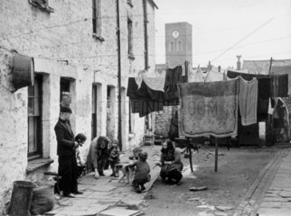 Slums in South Wales  1 May 1939. 'Recent