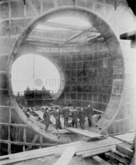 Construction of the Blackwall Tunnel  London  c 1895.