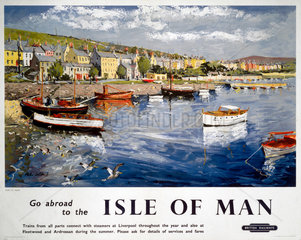 'Go abroad to the Isle of Man'  BR (LMR) poster  1948-1965.