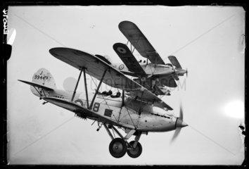 Hawker Hart aeroplanes  1935.