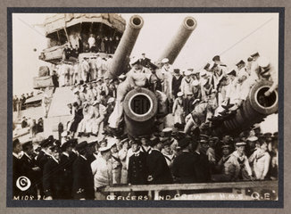 'Officers and Crew of HMS Queen Elizabeth'  c 1916.