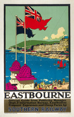 'Eastbourne'  SR poster  1929.