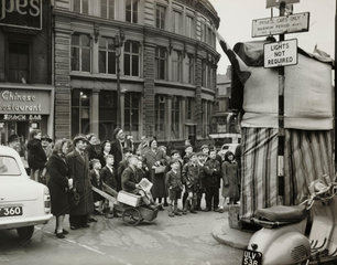 Punch and Judy show  7 January 1957.