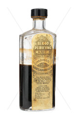 Bottle of 'Blood Purifying Mixture'  1880-1930.