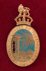 Lapel badge issued by the British Congress on Tuberculosis  1901.