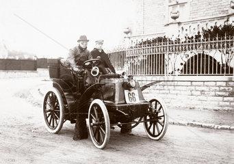 C S Rolls winning the tourist class of the Bordeaux-Biarritz race  1899.