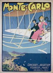 'Monte-Carlo Concours d'Aviation Fevrier et Mars'  Monaco  early 1910s.
