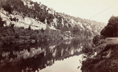 The River Wye  near Chepstow  Monmouthshire  Wales  c 1850-1900.