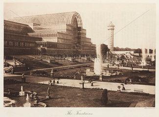 Fountains at the Crystal Palace  Sydenham  London  1911.